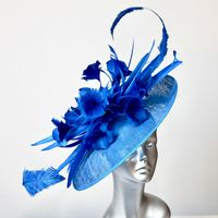 14809 Ribbon Blue WOW Mum's Hat on a headband SD692